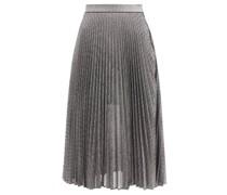 Dna Pleated Metallic Tulle Midi Skirt