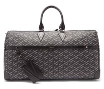 Logo-print Canvas And Leather Holdall Bag