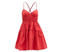 Mia Shirred Cotton Mini Dress