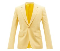 Single-breasted Panama-cotton Suit Jacket