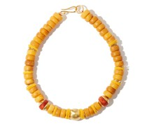 Galaxy Of Stars Beaded Gold-plated Necklace