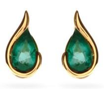 Ignite Emerald & 18kt Gold Stud Earrings
