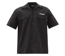 Logo-embroidered Cotton-twill Shirt