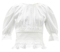 Soriana Ruched Linen Top