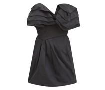 Agnese Ruffled Taffeta-twill Mini Dress