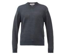 Donegal V-neck Linen Sweater