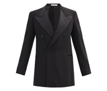 Double-breasted Wool-blend Tuxedo Jacket