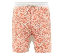 Sweat Solve Printed Drawstring-waist Shorts