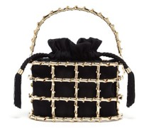 Holli Jungla Crystal-embellished Cage Handbag