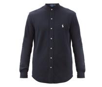 Logo-embroidered Cotton-piqué Shirt