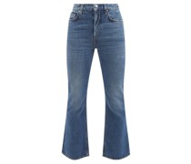 High-rise Cropped Flared-leg Jeans