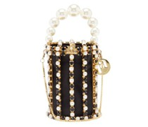 Hippy Crystal And Faux-pearl Embellished Phone Bag
