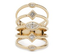 Multi-band Diamond & 14kt Gold Ring