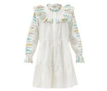 Linden Patchwork-trimmed Cotton-poplin Dress