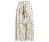 Evelyn Floral-print Cotton-blend Wrap Skirt