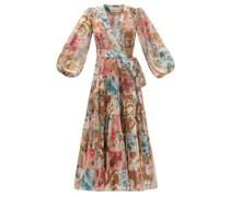 Cassia Tiered Floral-print Cotton Wrap Dress