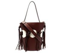 Venus Cutout Leather Bucket Bag