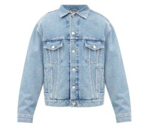 Language-print Denim Jacket