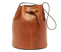 Return To Nature Leather Bucket Bag
