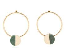 Stone-embellished Hoop Earrings