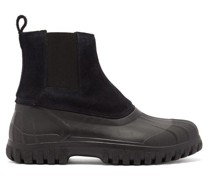 Balbi Suede And Rubber Chelsea Boots
