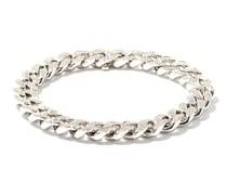 Diamond & 18kt Gold Flat Curb-chain Bracelet