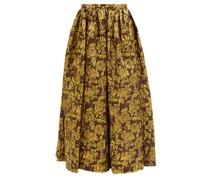 Lindie Floral-brocade Maxi Skirt