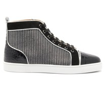 Louis Orlato Suede-trim Canvas High-top Trainers