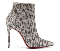 So Kate 100 Leopard-print Ankle Boots