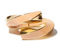 Enamel & 18kt Gold-plated Cuff