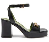 Houdan Horsebit Leather Platform Sandals