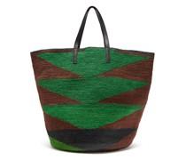 Maxi Geometric-weave Sisal Tote Bag