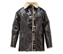Reversible Pvc And Shearling Jacket