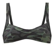 The Molly Camouflage-print Bikini Top