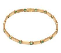 Stepping Stones Emerald & 18kt Gold Bracelet