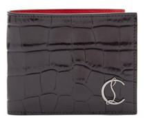 Crocodile-effect Leather Bi-fold Wallet