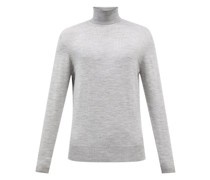 Fitted Merino-wool Roll-neck Sweater