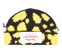 Logo-patch Lambswool-blend Beanie Hat