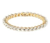 Two-tone Diamond & 18kt Gold Chain-link Bracelet