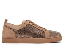Louis Junior Strass Suede Trainers