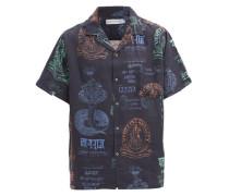 Khan Market-print Linen Pyjama Shirt