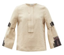 Methoni Embroidered Linen Blouse