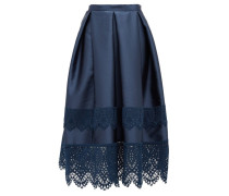 Ina Guipure-lace Trimmed Mikado Skirt