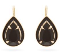 Lab-onyx, Enamel And 14kt Gold Drop Earrings
