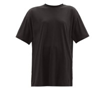 Long-line Cotton-jersey T-shirt