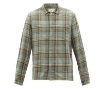 Patch Check Cotton-twill Shirt