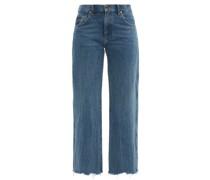 Kerrie Raw-hem Wide-leg Jeans