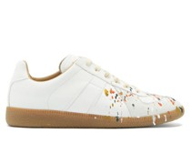 Replica Paint-splattered Leather Trainers