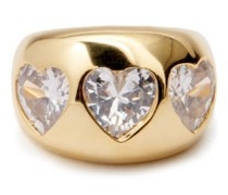 Crystal & 24kt Gold-plated Ring