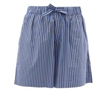 Striped Organic-cotton Pyjama Shorts